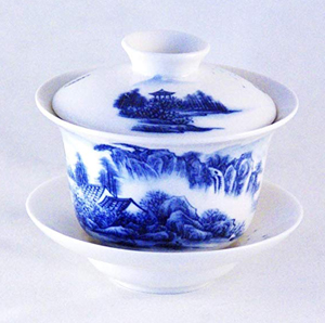 Gaiwan - Blue and White Landscape