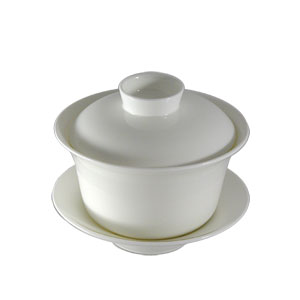 Bana White Bone China Gaiwan
